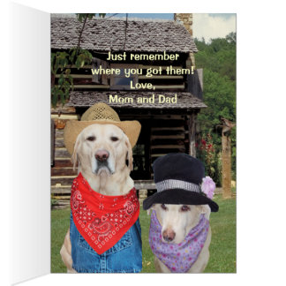 Funny Dog/Lab Birthday for Son or Nephew Card
