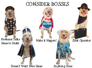 Funny Dog Lab Boss Birthday Card