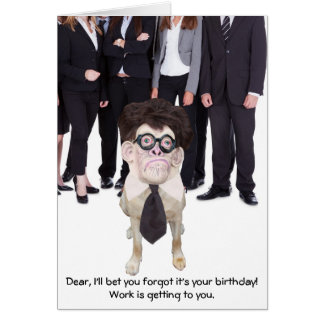 Funny Dog/Lab for Dad or Male Greeting Card