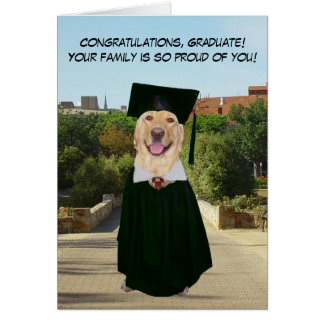 Funny Dog/Lab Graduation from Family Card