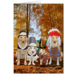 Funny Dog/Lab/Hound Pilgrims and Indians Greeting Card