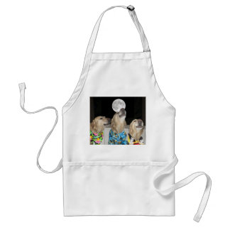 Funny Dog/Lab Howling Good Time Adult Apron