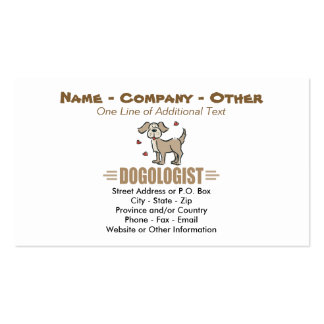 Funny Dog Lover Double-Sided Standard Business Cards (Pack Of 100)