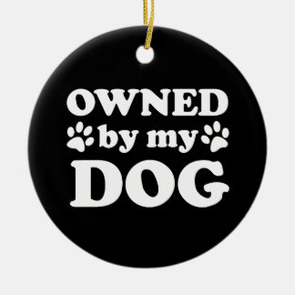 Funny Dog Lover Gift Christmas Ornament