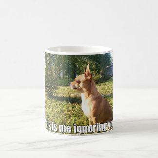 Funny Dog Me Ignoring You Coffee Mug