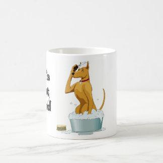 Funny Dog Mug, Dog in Bath Coffee Mug