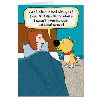 Funny Dog Nightmare Birthday Card