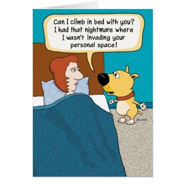 chuckink Funny Dog Nightmare Birthday Card