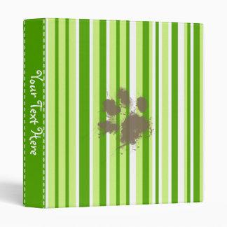 Funny Dog Owner Gift; Green Stripes Binder