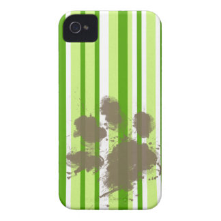Funny Dog Owner Gift Green Stripes iPhone 4 Cases