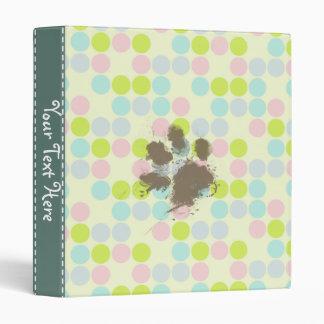 Funny Dog Owner Gift; Pastel Colors, Polka Dot Binder