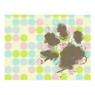 Funny Dog Owner Gift; Pastel Colors, Polka Dot Postcard