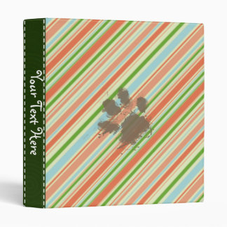 Funny Dog Owner Gift; Peach & Forest Green Binder