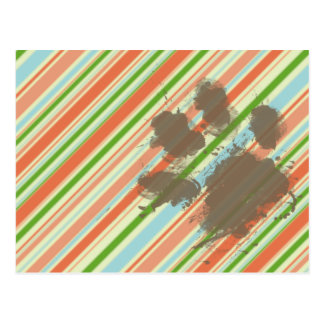 Funny Dog Owner Gift; Peach & Forest Green Postcard
