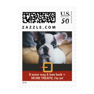 Funny Dog Owner More Wag Less Bark Christmas Photo Postage