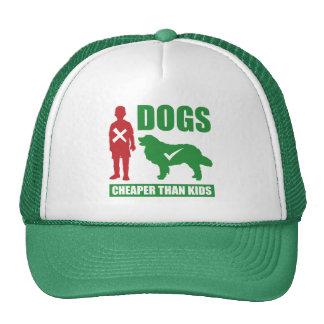 Funny Dog Owners Dogs vs Kids Slogan Trucker Hat