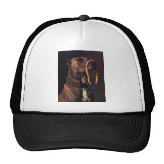 Funny Dog painting Trucker Hats