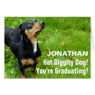 Funny Dog Photo Graduation Card Custom Photo Text
