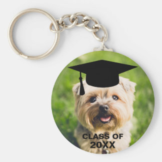 Funny Dog Photo Graduation Personalized Class of Keychain