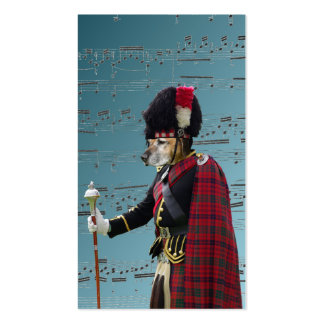 Funny dog pipe major business card template