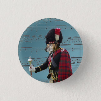 Funny dog pipe major button
