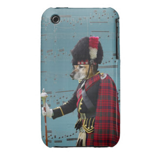 Funny dog pipe major iPhone 3 Case-Mate cases