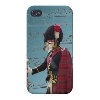 Funny dog pipe major iPhone 4 covers