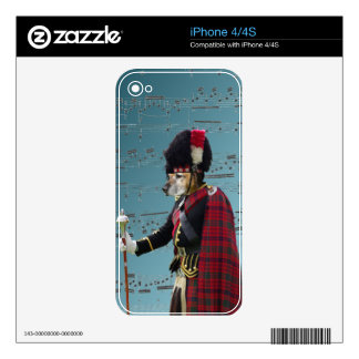 Funny dog pipe major iPhone 4S skins