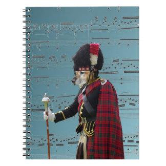 Funny dog pipe major spiral note book