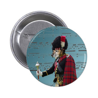 Funny dog pipe major pinback button
