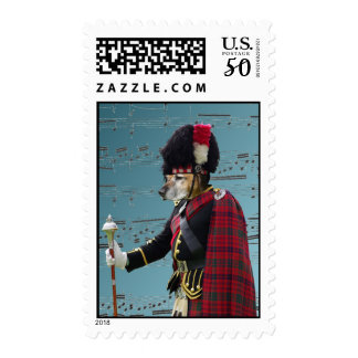 Funny dog pipe major postage