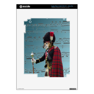 Funny dog pipe major skins for iPad 3