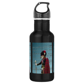Funny dog pipe major stainless steel water bottle