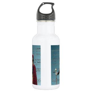 Funny dog pipe major water bottle