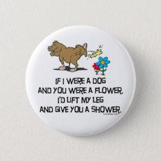 Funny Dog Poem Pinback Button at Zazzle