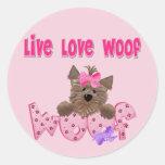 Funny Dog Round Sticker
