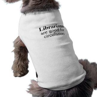 Funny Dog Shirt Librarian Circulation Pun Custom