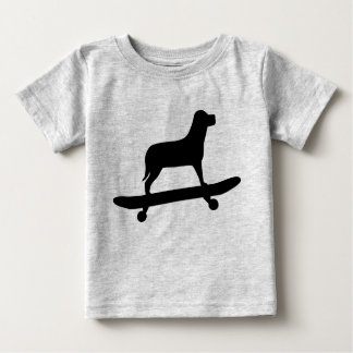 Funny Dog Skateboard Shirt for Babies