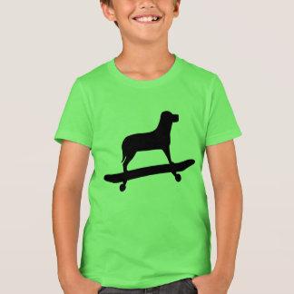 Funny Dog Skateboard T Shirt for Kids
