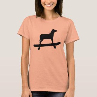 Funny Dog Skateboard T Shirt for Women