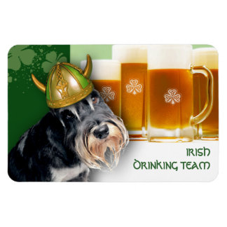 Funny Dog. St. Patrick's Day Fun Magnet