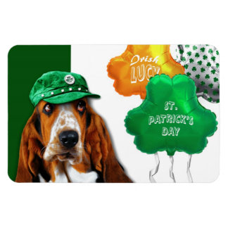 Funny Dog. St. Patrick's Day Fun Magnets