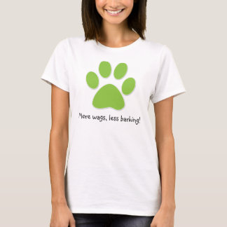 Funny Dog T-Shirt Lime Green Paw