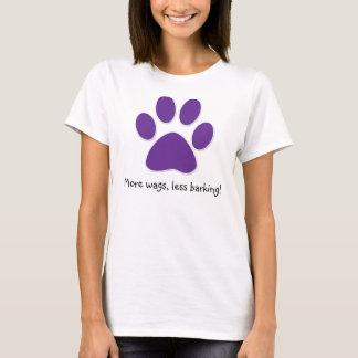 Funny Dog T-Shirt Purple Paw