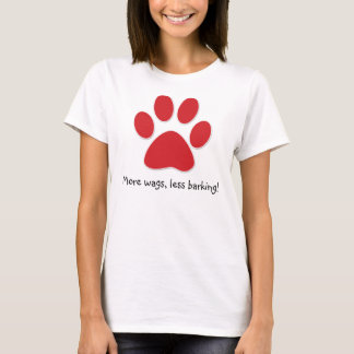 Funny Dog T-Shirt Red Paw