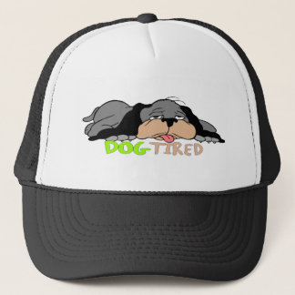 Funny Dog Tired T-shirts Gifts Trucker Hat