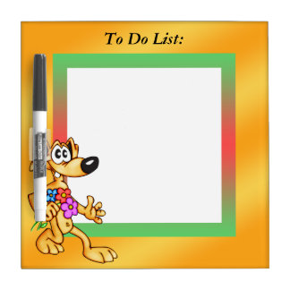 Funny Dog To Do List Dry Erase Board
