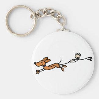Funny Dog Walk Cartoon Original Keychain