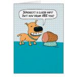 Funny Dog With Glazed Ham Birthday Card