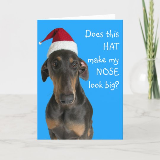 funny dog with santa hat christmas card - Funny Dog Christmas Cards